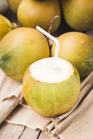 Fresh coconut-Healthy fruit 免版税图像