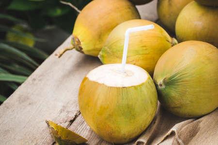Fresh coconut- Healthy fruit 免版税图像 - 152115812