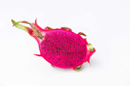Fresh red dragon fruit- Pitaya fruit on the white background 版權商用圖片 - 152244260