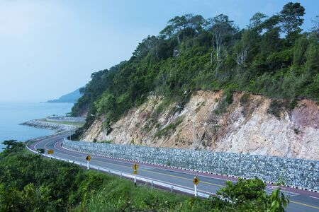 road along the sea cliffs Stock Photo