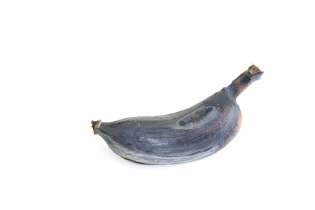 bad banana: Over Ripe Banana On White Background