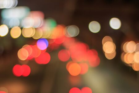 caused: Bokeh caused by car lights. Stock Photo