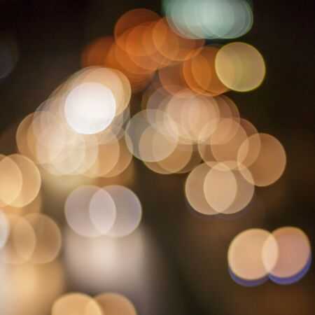 Bokeh caused by car lights. Stock Photo