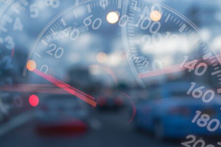 Mileage Cars on traffic blur background