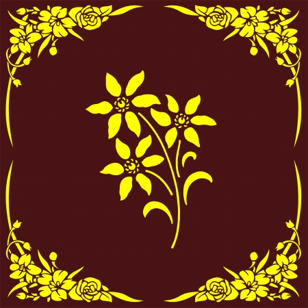 etch glass: flower corner
