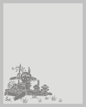 sandblast: children Illustration