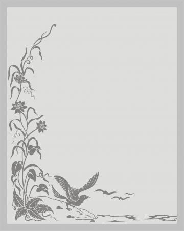 coreldraw: floral corner