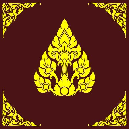 etching pattern: Thai corner Illustration