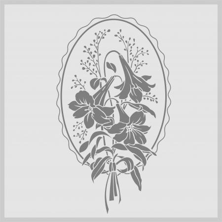 etch: floral flowers