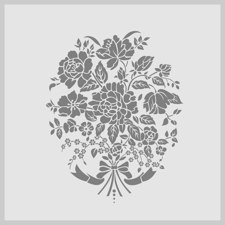 etch glass: floral flowers