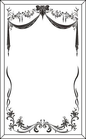 etch glass: patr?n de grabado espejo Vectores