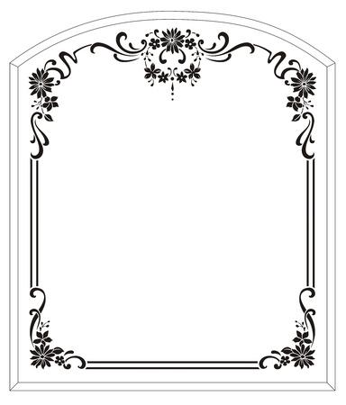 etch glass: patr�n de chorro de arena Vectores