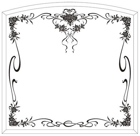 etch: sandblast pattern