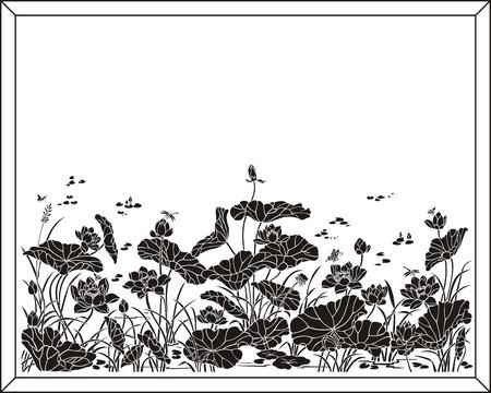 sandblast: lotus pattern Illustration