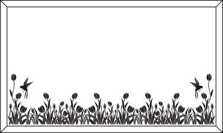 etch: tulip pattern
