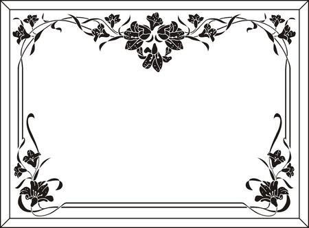 sandblast: floral frame Illustration