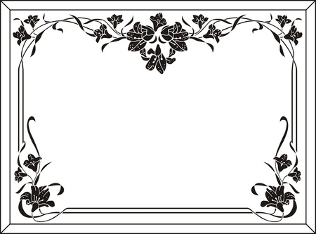 etch glass: marco floral