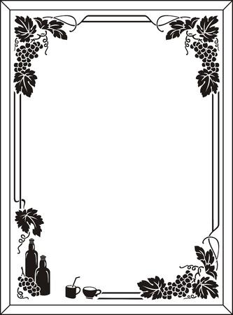 etch glass: uva Vectores