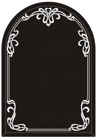 etch glass: frame mirror