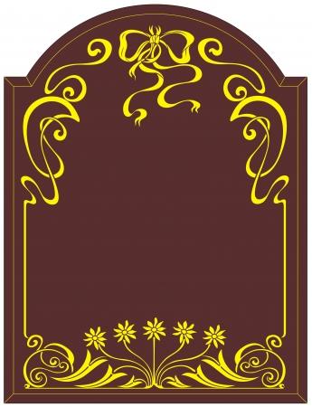 etch: etching glass pattern Illustration