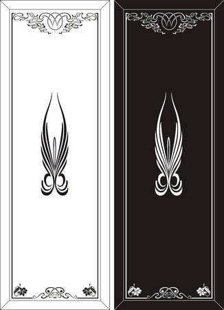 glass etching pattern Vector