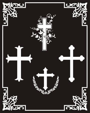 etch glass: Cross pattern
