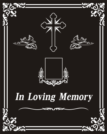 etch glass: In Loving Memory