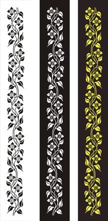 etch glass: patr�n de flores