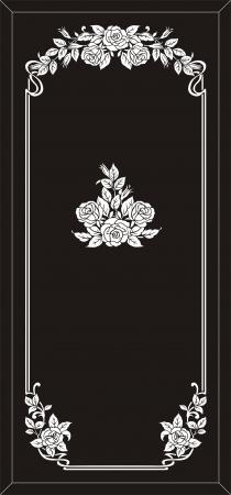 mirror frame: rose frame Illustration