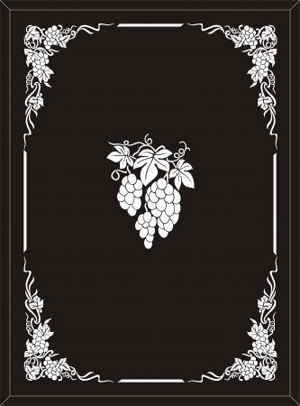 coreldraw: grape frame
