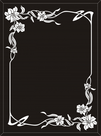 etch glass: flower frame