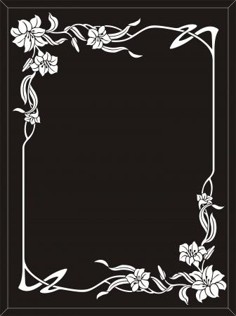 etch glass: Marco de la flor