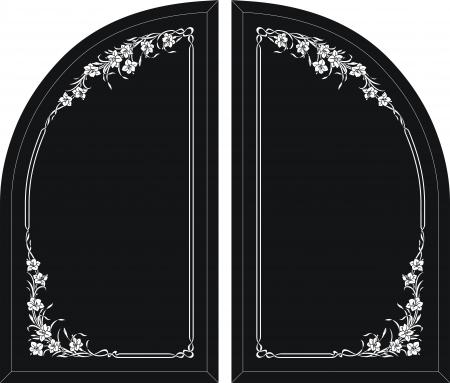 etch glass: marco del espejo