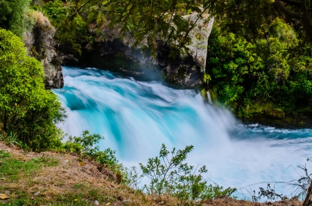 upstream: Haka falls is the biggest in north island, Waikato river, New Zealand