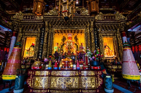 Image of Buddha in A-ma temple, Chinese Temple, Macau  A-ma temple is the ancient remains and very big very beautiful