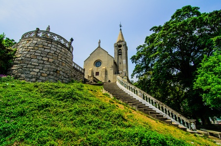Penha church on the top of Barra hill in Macau  This one is the importance church of Macau