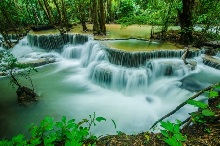 Huay Mae Khamin - Waterfall is so beautiful of waterfall in Thailand, Huay Mae Khamin National Park  photo