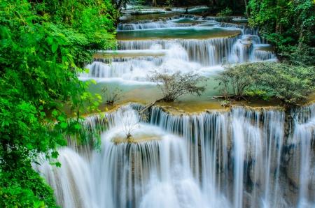 Huay Mae Khamin, Paradise Waterfall located in deep forest of Thailand  Huay Mae Khamin - Waterfall is so beautiful of waterfall in Thailand, Huay Mae Khamin National Park, Kanchanaburi, Thailand Stock Photo - 21583108