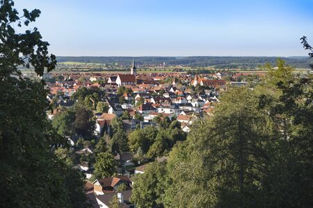 Mindelheim. Small town in the Allgäu in the south of Germany in the season summer