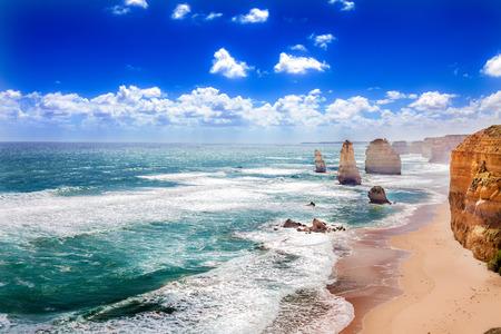 stone road: Twelve Apostles on Great Ocean Road in Australia