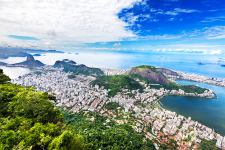 Aerial view of Rio de Janeiro city, Brazil