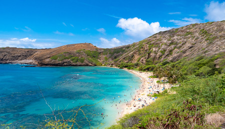 Hanauma Bay beach in Oahu Hawaii