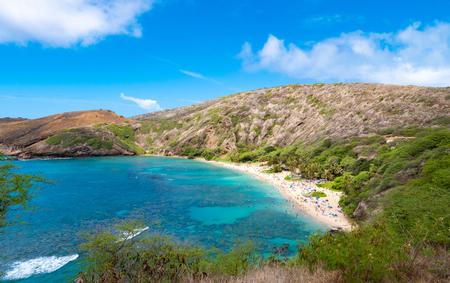 Hanauma Bay beach in Oahu island in Hawaii