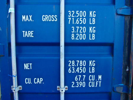 capacity: Capacity informations of a blue container
