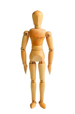 wood figurine: Soporte de maniqu� Foto de archivo