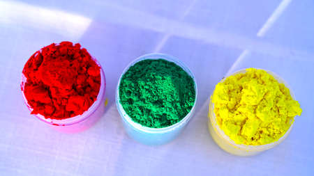 Rangoli colors. Beautiful colors on auspicious festival of Holi or Dol purnima. Soft herbal color with attractive flower dye.