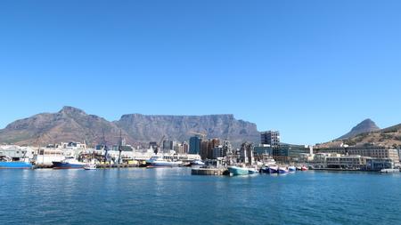 Table Mountain from V & A Waterfront Reklamní fotografie