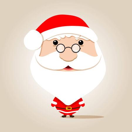 wears: Santa claus head wears glasses