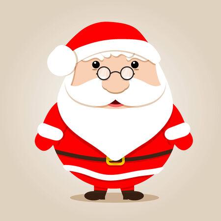 wears: fat santa claus wears glasses