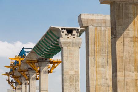 Construction of a Mass Rapid Transit line in progress